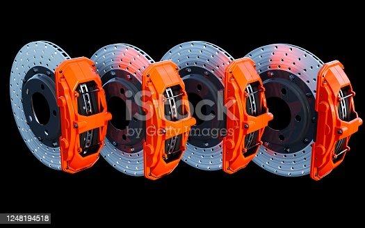 3D rendering of brake disk