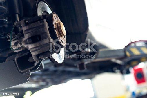 istock Car brake 176730280