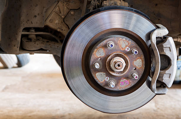 Car brakes system stock photo