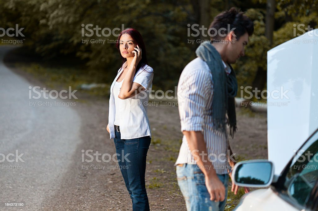 Car Breakdown royalty-free stock photo