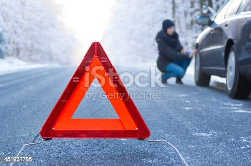 482803237istockphoto Car broken down during extreme weather conditions 451632785