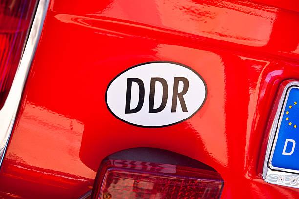 DDR Car Bumper Decal stock photo