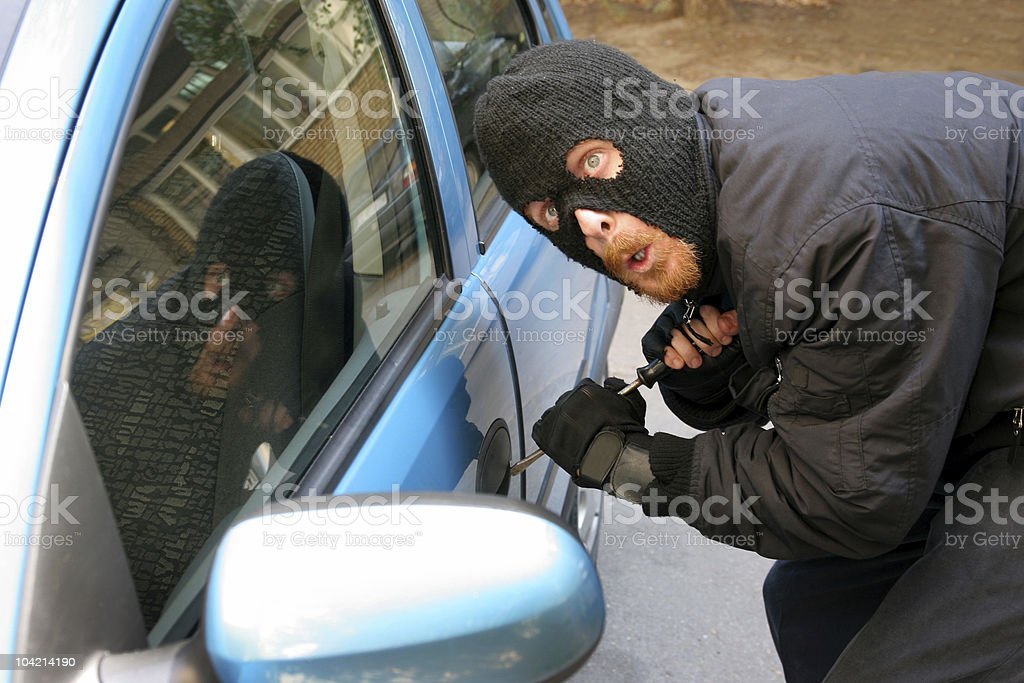 car burglary royalty-free stock photo
