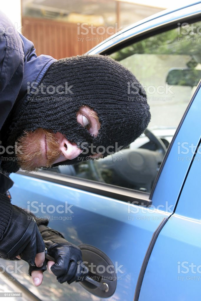 car burglary royalty-free stock photo