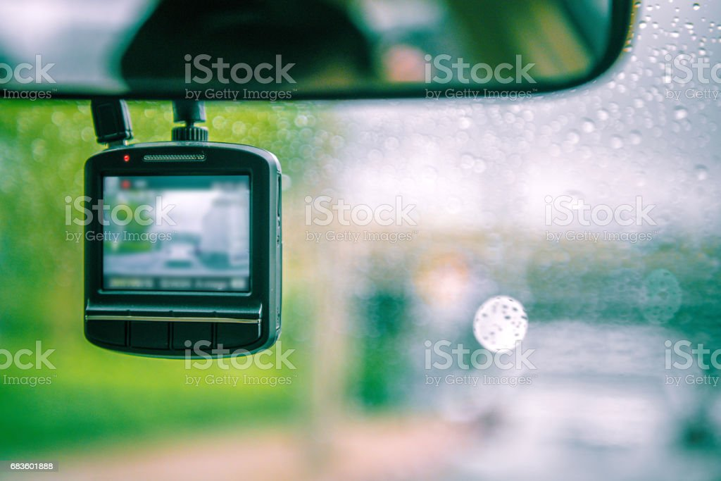 CCTV car camera for safety on the road accident. stock photo