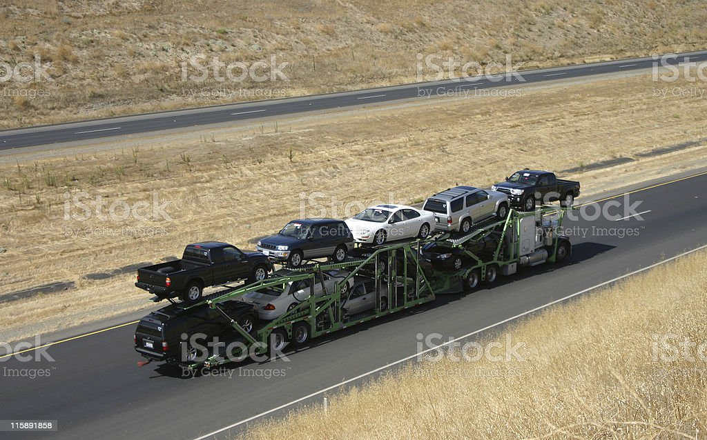Car Carrier royalty-free stock photo
