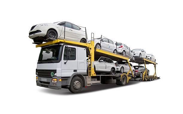 auto-carrier - autotransporter stock-fotos und bilder