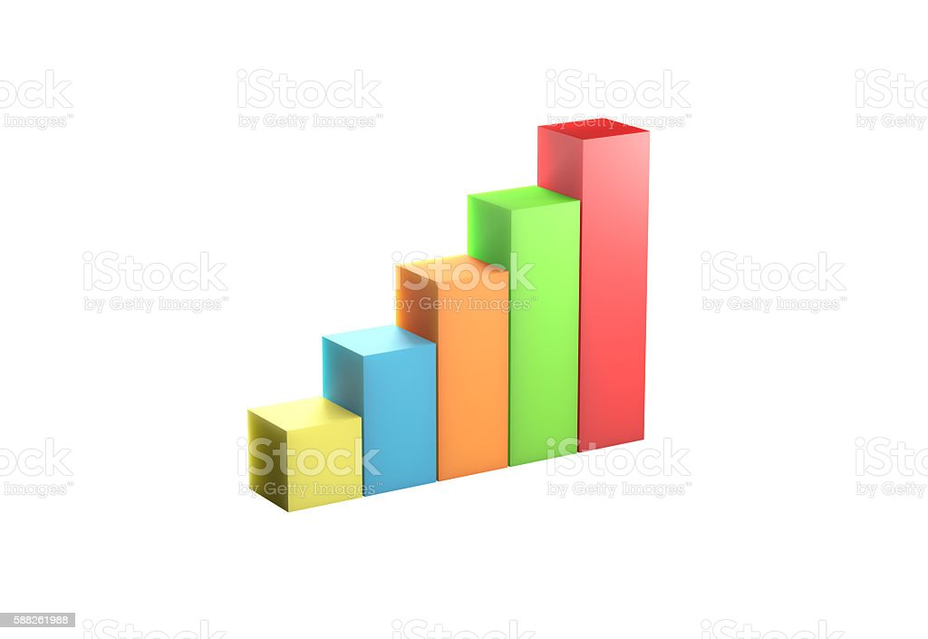 Car chart high quality 3d rendering stock photo