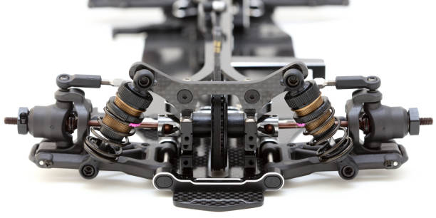 RC Car Chassis and Parts stock photo
