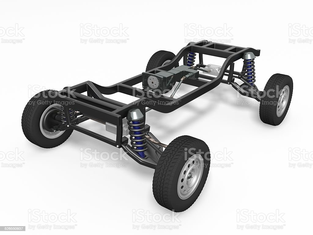 Car chassis stock photo