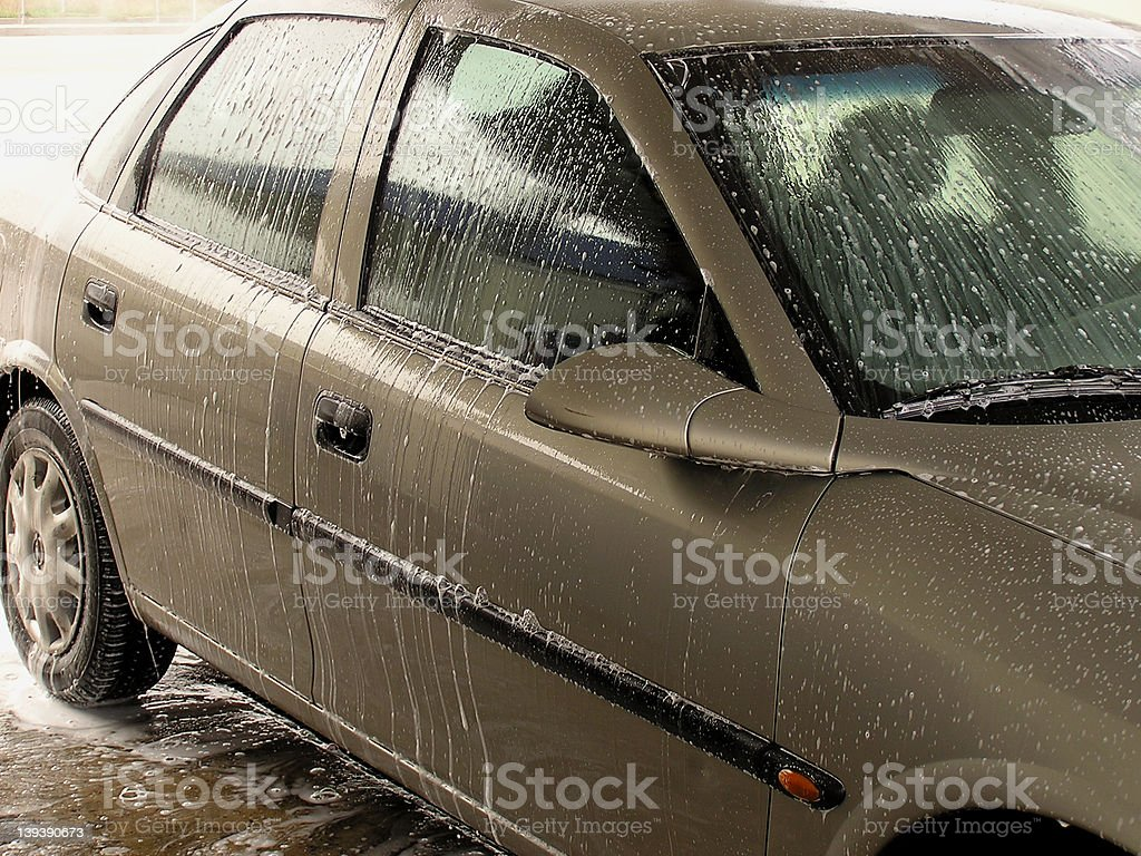 Car cleaning - 3 royalty-free stock photo