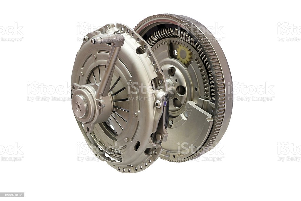 car clutch isolated on white royalty-free stock photo