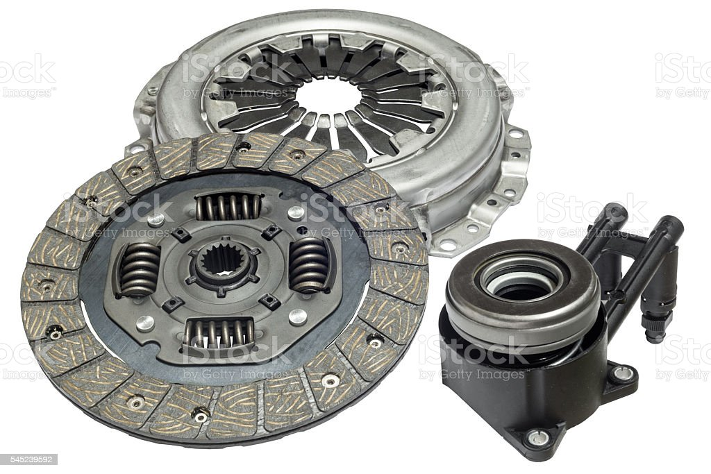 car clutch kit on a white background stock photo