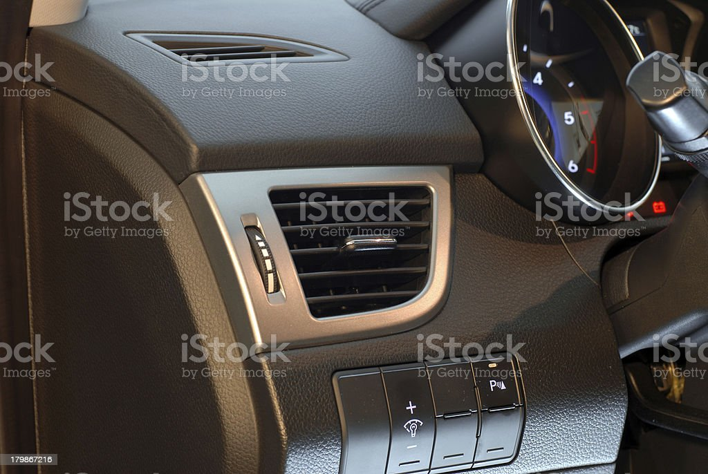 Car cockpit detail royalty-free stock photo