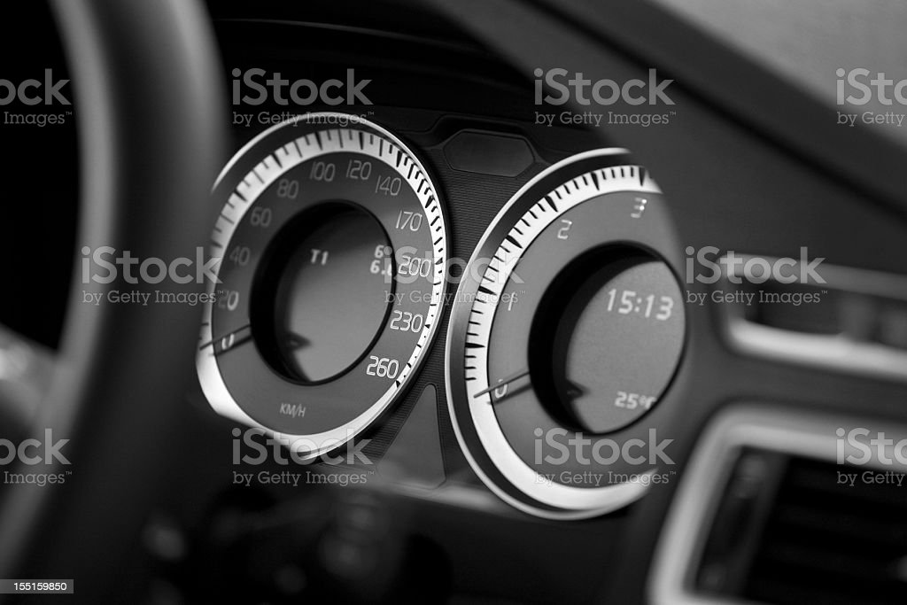 car cockpit instruments royalty-free stock photo
