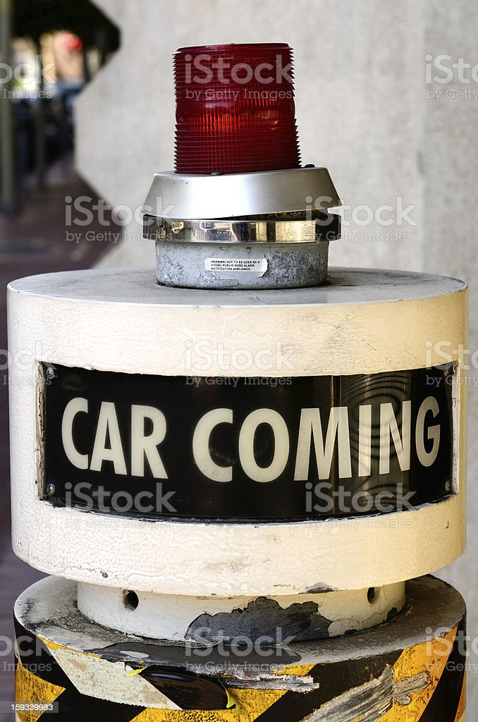 Car Coming stock photo