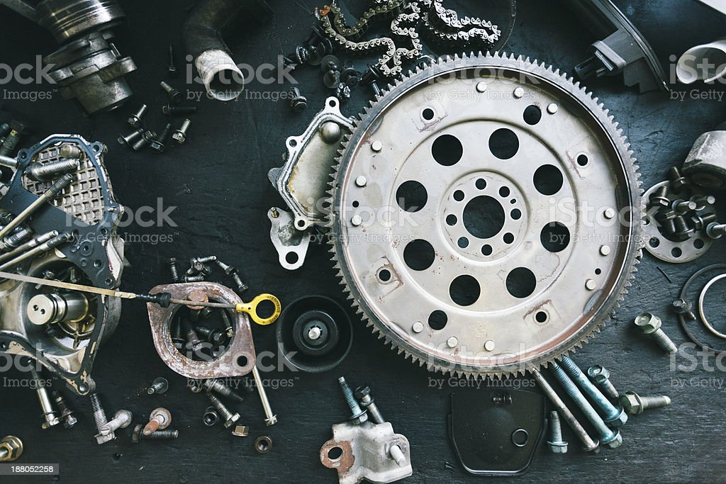 Car components stock photo
