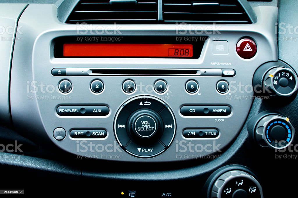 Car Control Panel and Dashboard stock photo