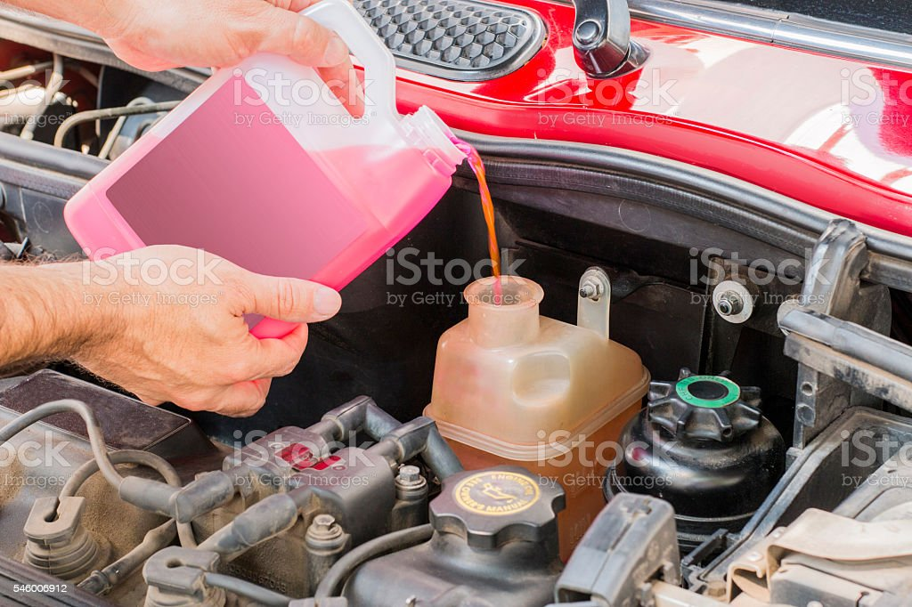 car coolant stock photo