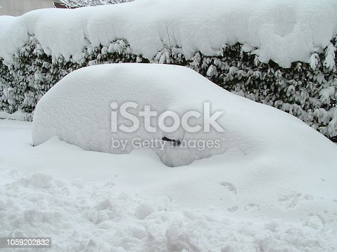Snowy winter in italy