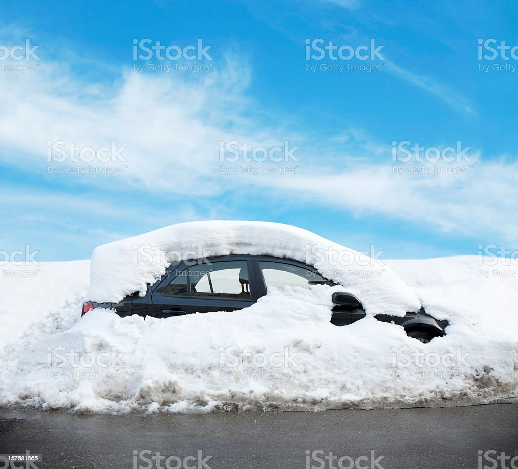 Car Covered in Snow stock photo