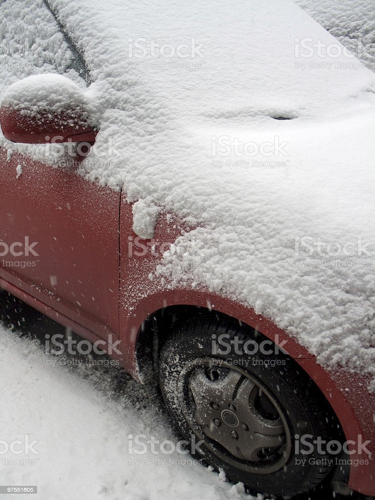 Car covered in snow royalty-free stock photo