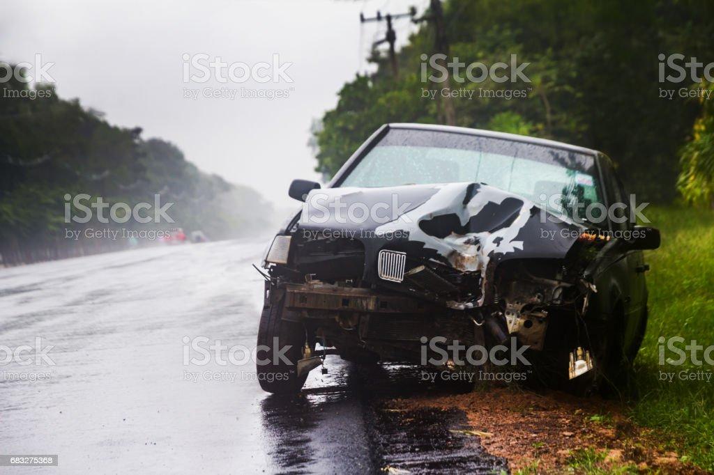 car crash accident on street Lizenzfreies stock-foto