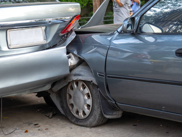 Car crash accident on street with wreck and damaged automobiles. Accident caused by negligence And lack of ability to drive. Due to illness Car crash accident on street with wreck and damaged automobiles. Accident caused by negligence And lack of ability to drive. Due to illness bumper stock pictures, royalty-free photos & images