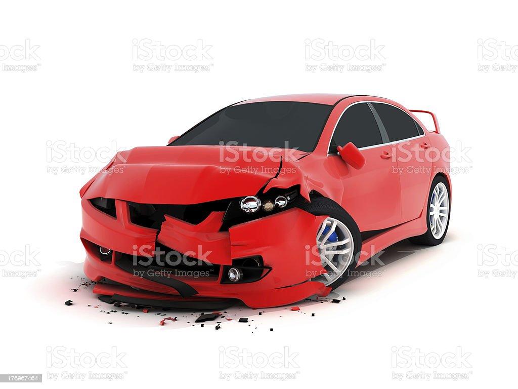 Car crash royalty-free stock photo