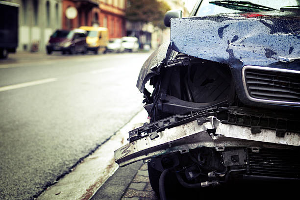car crash - car accident stock photos and pictures