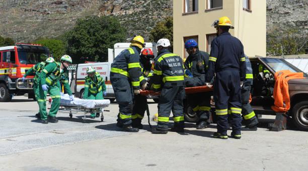 Accident de voiture de sauvetage formation - Photo