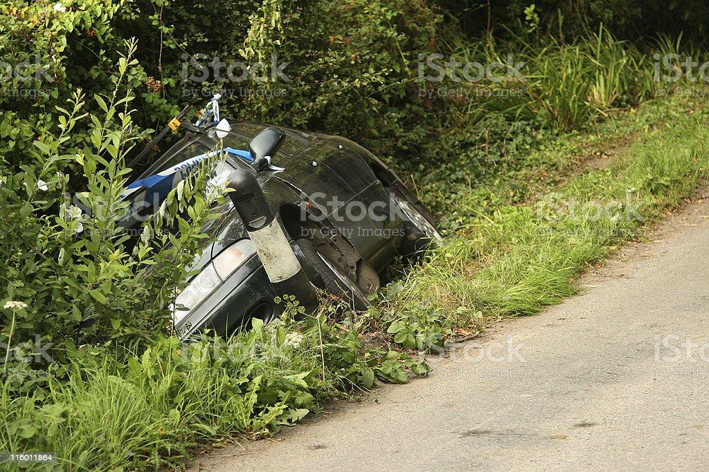 Car crash scene stock photo