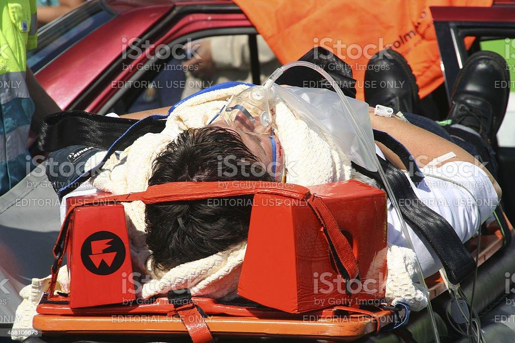 Car Crash Victim stock photo