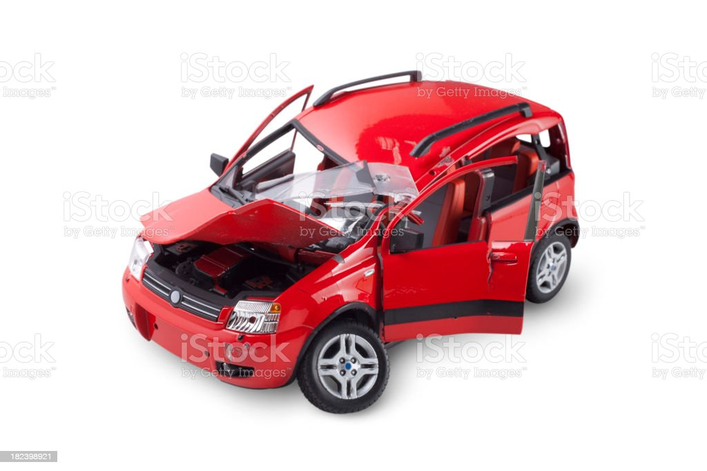 Car crashed stock photo