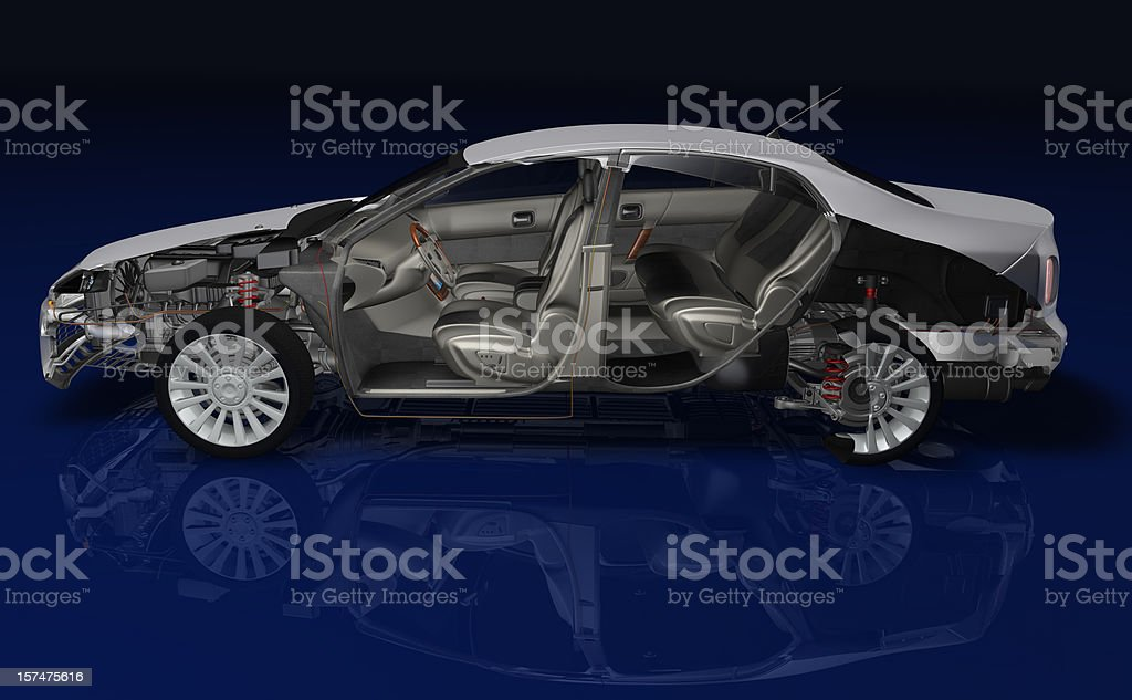Car cross section royalty-free stock photo