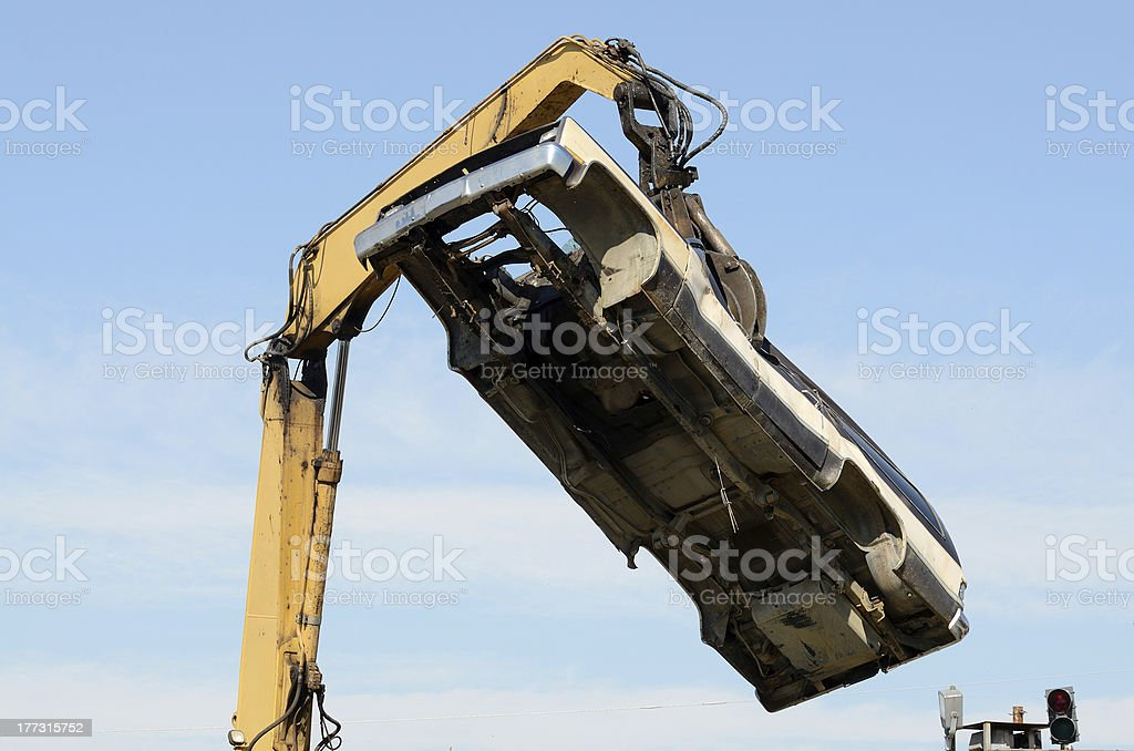 Car Crush stock photo