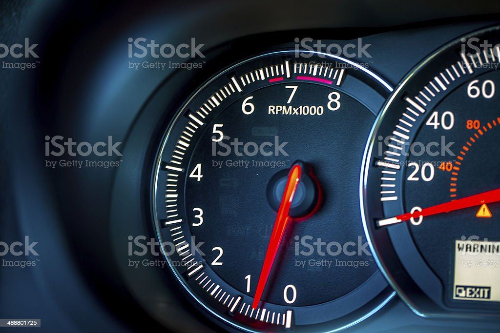 Car Dash Tachometer stock photo