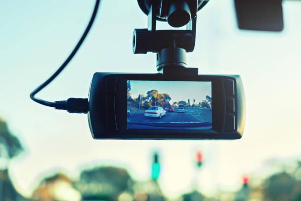 Auto-Dashboard-Kamera in Aktion – Foto