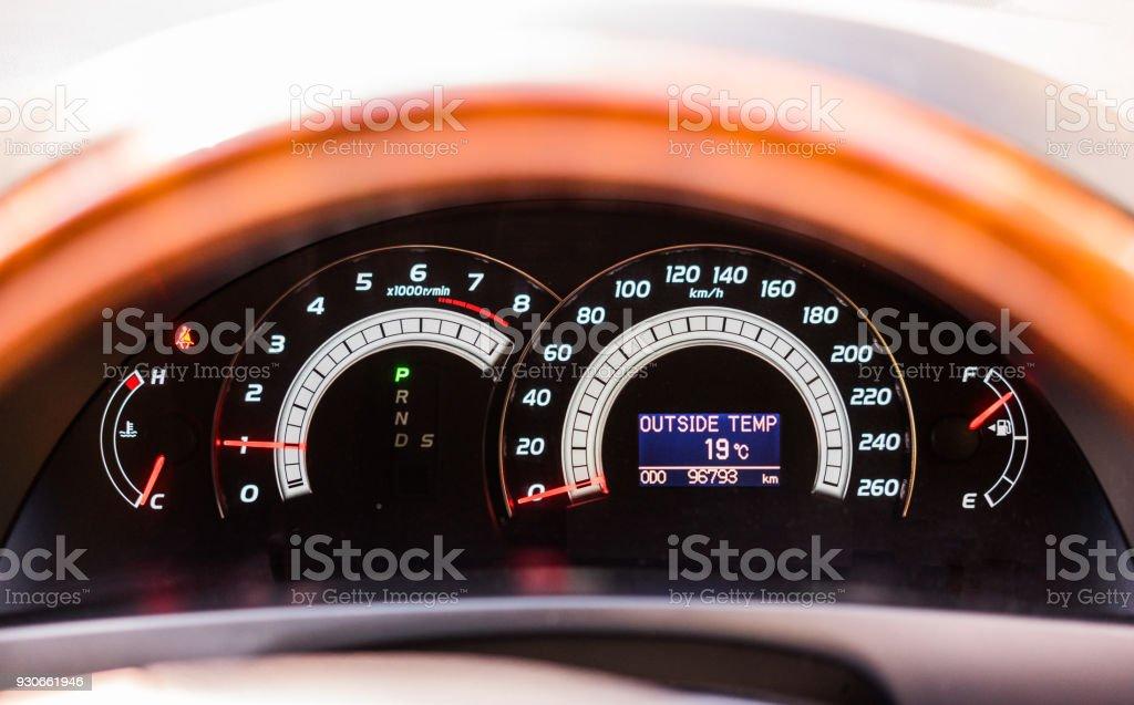 Car dashboard of modern car stock photo