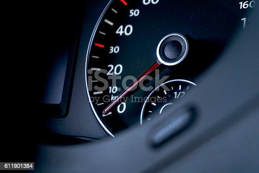 Car Dashboard speedmeter detail view