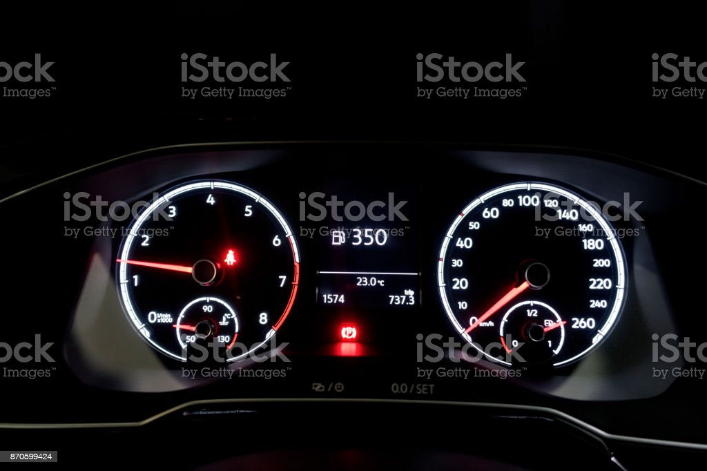 Car dashboard stock photo