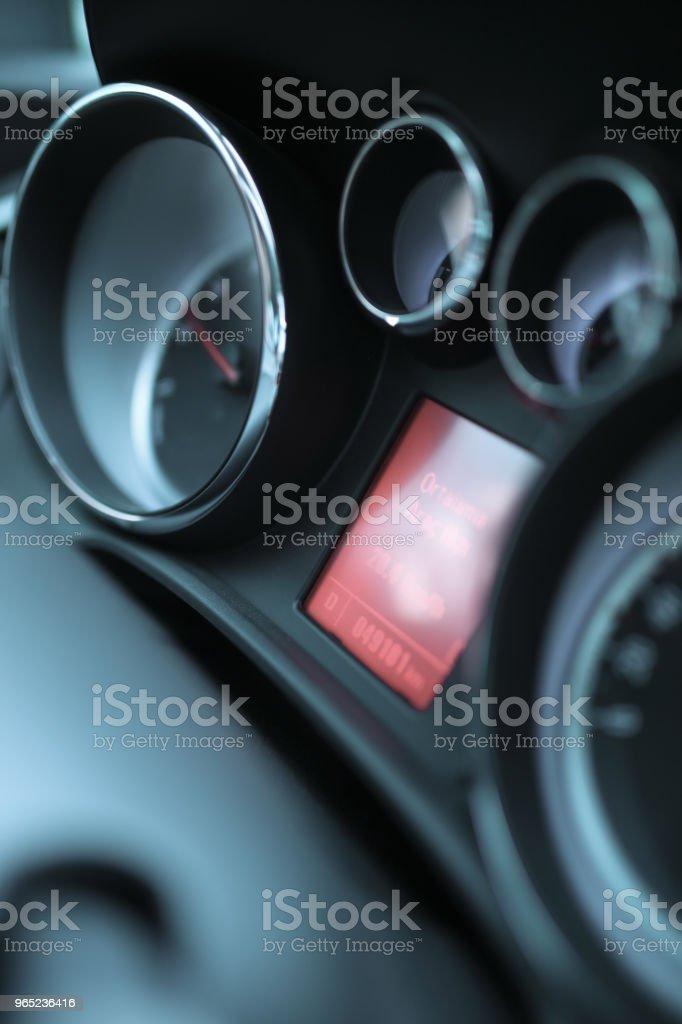 Car Dashboard zbiór zdjęć royalty-free