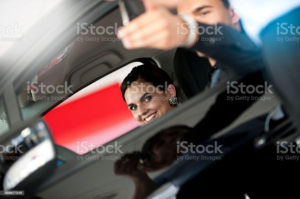 Car dealer stock photo