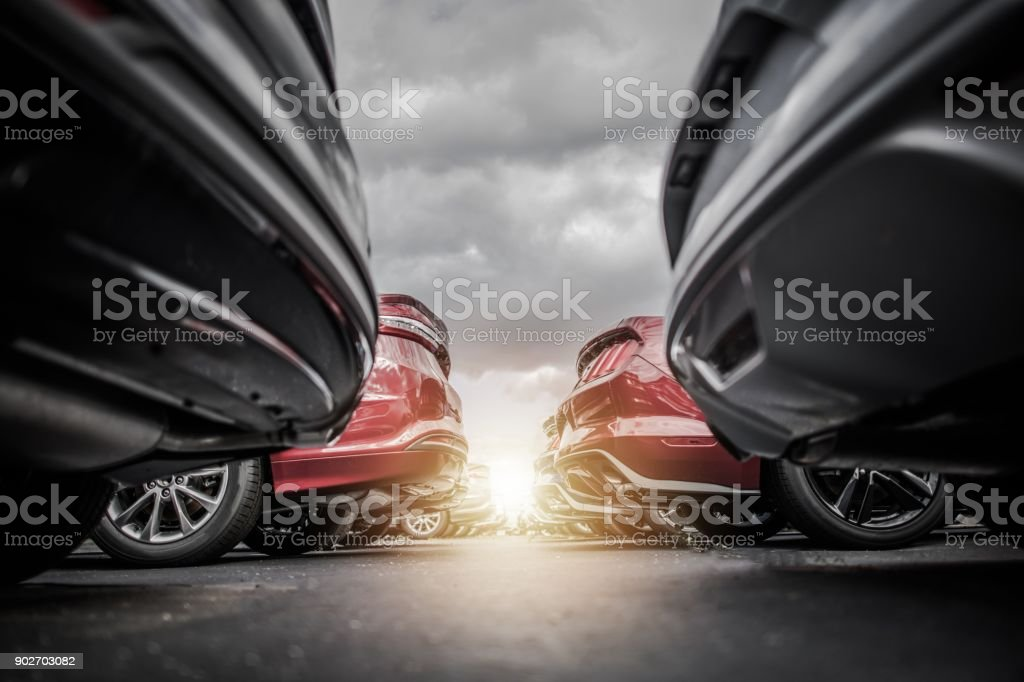 Car Dealership New Stock stock photo