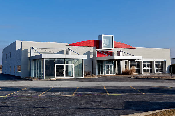 Car Dealership Out Of Business stock photo