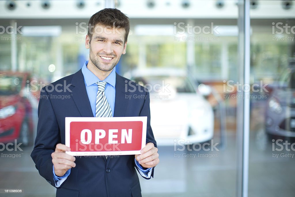 Car dealership owner or manager. royalty-free stock photo