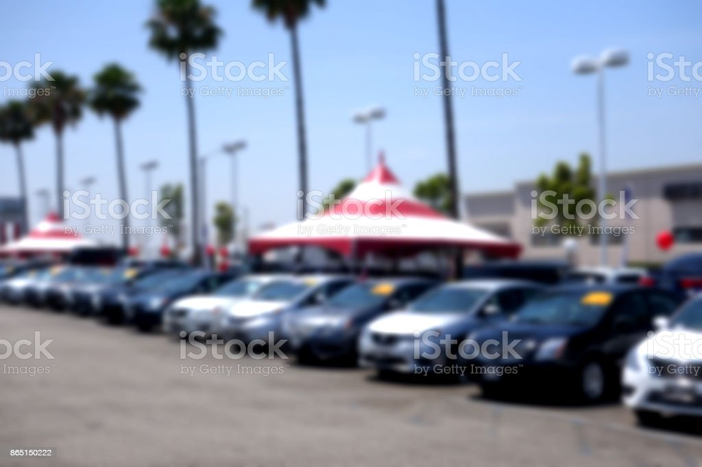car dealership stock photo