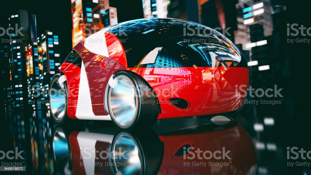 Car design - 3D Illustration stock photo