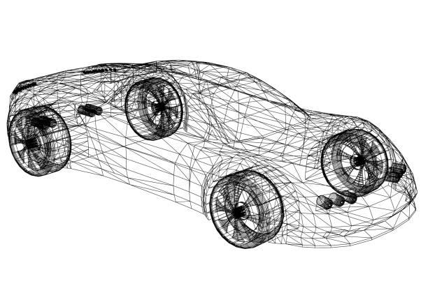 Car Design Blaupause – Foto
