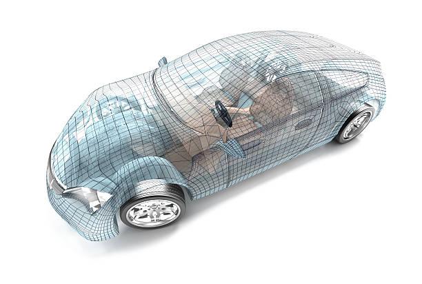 Conception de la voiture, modèle de fil - Photo